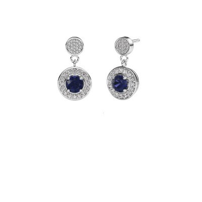 Picture of Earrings Ebonie 585 white gold sapphire 5 mm