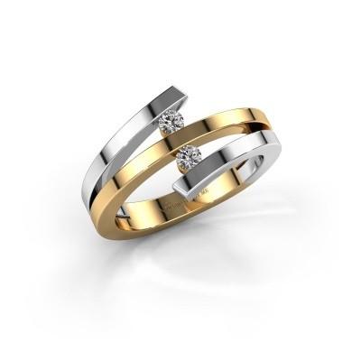 Foto van Ring Synthia 585 goud zirkonia 2.5 mm