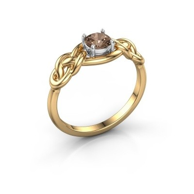Foto van Ring Zoe 585 goud bruine diamant 0.50 crt