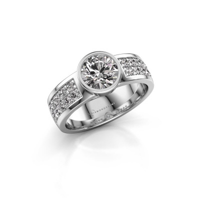 Engagement ring Ise 3 950 platinum diamond 1.40 crt