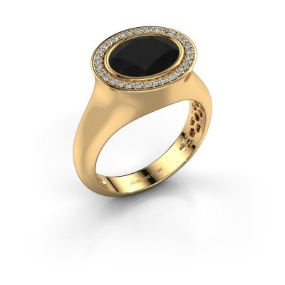Bague Phebe 585 or jaune diamant noir 3.40 crt