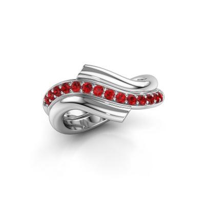 Ring Guusje 585 white gold ruby 1.8 mm