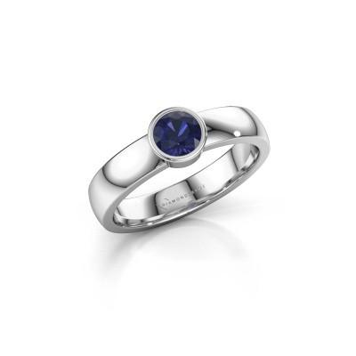 Foto van Ring Ise 1 925 zilver saffier 4.7 mm