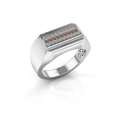 Heren ring Gerard 950 platina bruine diamant 0.30 crt