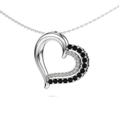 Necklace Kandace 585 white gold black diamond 0.638 crt