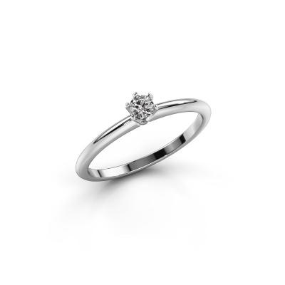Foto van Verlovingsring Tiffy 1 express 585 witgoud diamant 0.25 crt
