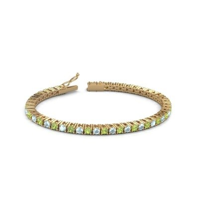 Tennisarmband Jenny 375 goud peridoot 3.5 mm