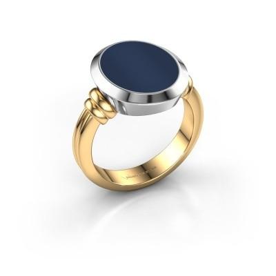 Foto van Zegelring Jake 3 585 goud donker blauw lagensteen 15x12 mm