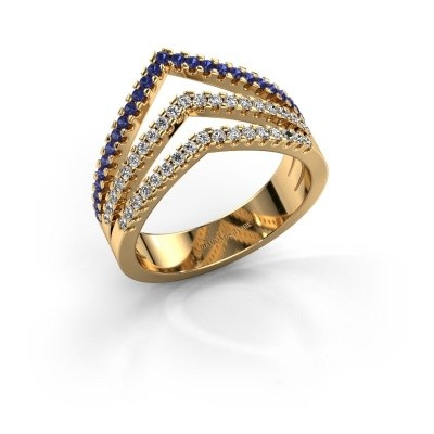 Ring Kendra 375 gold sapphire 1.2 mm