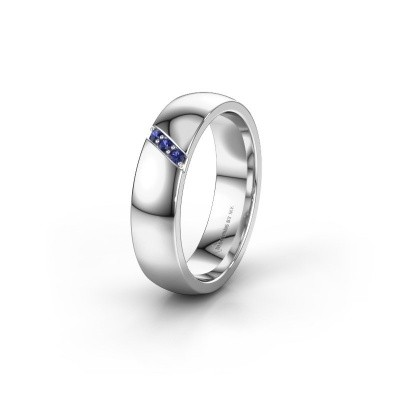 Wedding ring WH0174L25BP 950 platinum sapphire ±5x2 mm