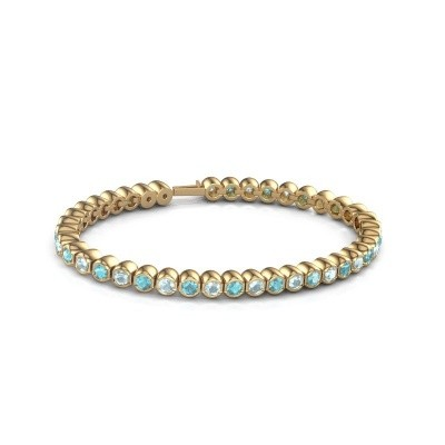 Tennisarmband Mellisa 375 goud blauw topaas 3.5 mm