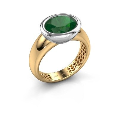 Ring Evelyne 585 goud smaragd 10x8 mm