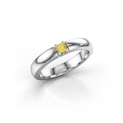 Engagement ring Rianne 1 925 silver yellow sapphire 3 mm