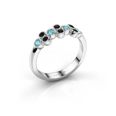Ring Kayleigh 585 Weißgold Blau Topas 2.4 mm