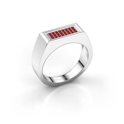 Men's ring Dree 6 925 silver ruby 1.1 mm
