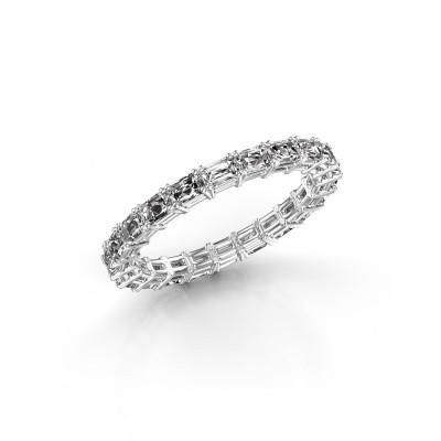 Foto van Aanschuifring Vivienne EME 3x2 585 witgoud diamant 2.20 crt