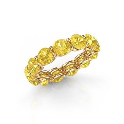 Foto van Ring Kirsten 5.0 375 goud gele saffier 5 mm