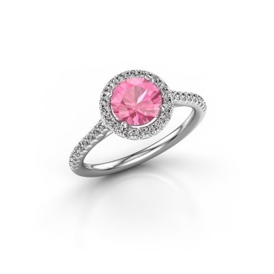 Picture of Engagement ring Seline rnd 2 950 platinum pink sapphire 6.5 mm