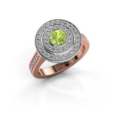 Ring Alecia 2 585 rosé goud peridoot 5 mm