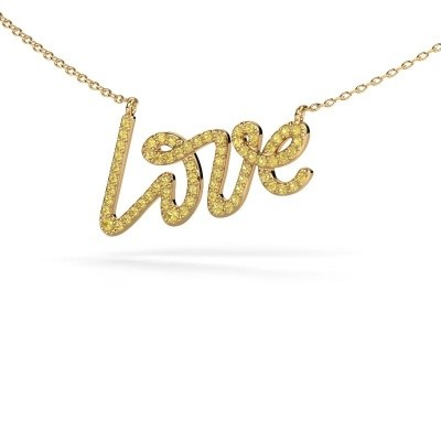 Hanger Love 375 goud gele saffier 1 mm