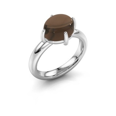 Ring Melodee 925 zilver rookkwarts 10x8 mm