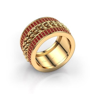 Picture of Ring Jayda 375 gold ruby 1.2 mm