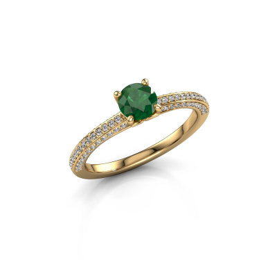 Picture of Engagement ring Elenore rnd 375 gold emerald 5 mm