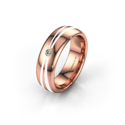 Wedding ring WH2226L36BP 585 rose gold ±0.24x0.08 in