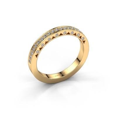 Ring Yasmine 375 Gold Zirkonia 1.2 mm