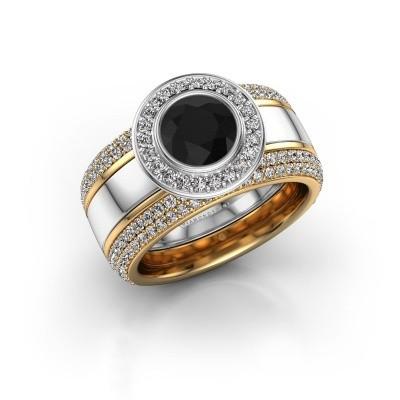Foto van Ring Roxie 585 witgoud zwarte diamant 2.26 crt