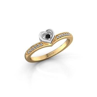 Ring Mimi 585 Gold Schwarz Diamant 0.124 crt