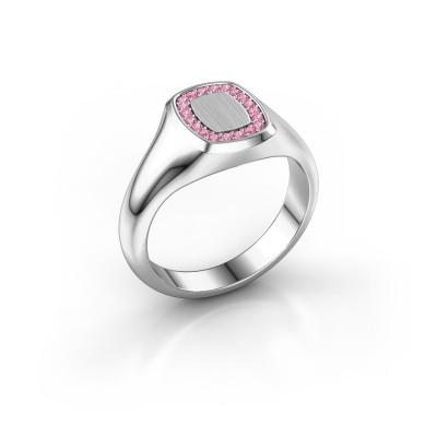 Men's ring Floris Cushion 1 950 platinum pink sapphire 1.2 mm