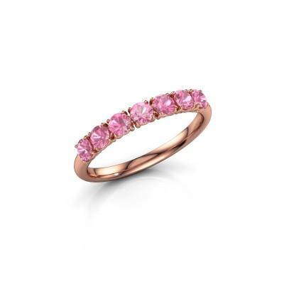 Foto van Ring Vivienne Half 375 rosé goud roze saffier 2.9 mm