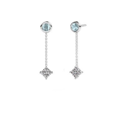 Picture of Drop earrings Ardith 585 white gold zirconia 2 mm