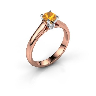 Verlovingsring Valorie 1 585 rosé goud citrien 5 mm