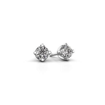 Foto van Oorknopjes Briana 585 witgoud diamant 0.40 crt