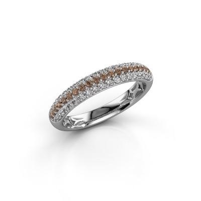 Foto van Ring Emely 2 925 zilver bruine diamant 0.557 crt