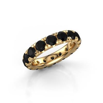 Foto van Aanschuifring Jackie 4.0 375 goud zwarte diamant 4.80 crt