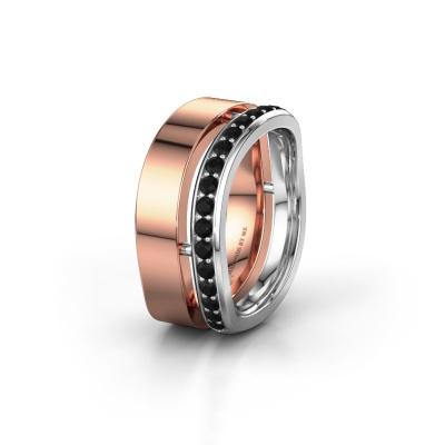 Ehering WH6008L18BP 585 Roségold Schwarz Diamant ±10x2 mm