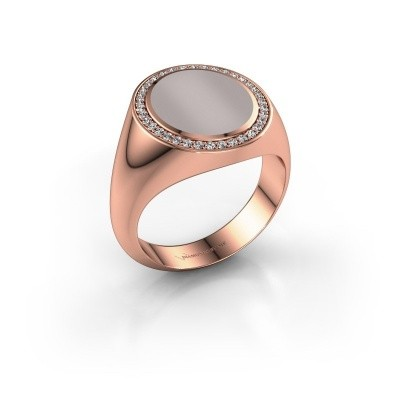 Zegel ring Adam 3 375 rosé goud rode lagensteen 13x11 mm