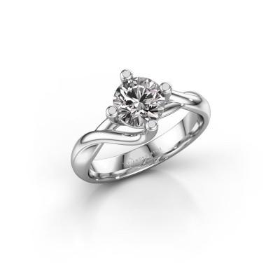 Foto van Verlovingsring Paulien 585 witgoud diamant 1.00 crt