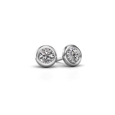 Picture of Stud earrings Lieke RND 950 platinum diamond 1.00 crt
