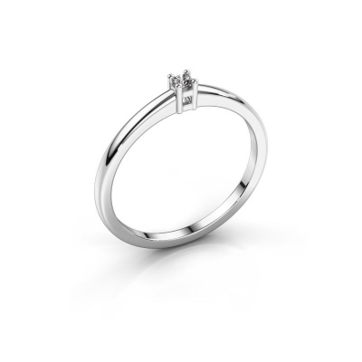 Promise ring Eline 1 950 platina diamant 0.03 crt