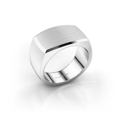 Heren ring Samuel 375 witgoud