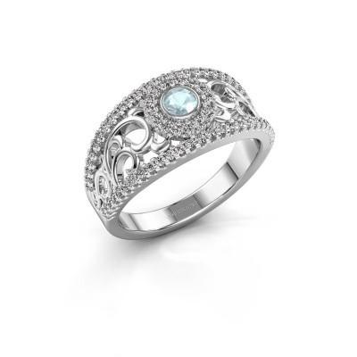 Foto van Ring Lavona 925 zilver aquamarijn 3.4 mm