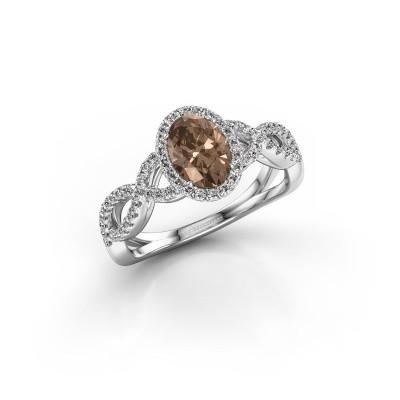 Foto van Verlovingsring Tanesha 585 witgoud bruine diamant 1.13 crt