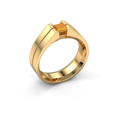 Picture of Men's ring Stefan 585 gold citrin 4.5 mm