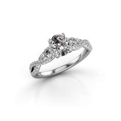 Foto van Verlovingsring Marilou OVL 950 platina lab-grown diamant 1.16 crt