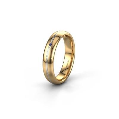 Trouwring WH2142L34A 585 goud saffier ±4x1.7 mm