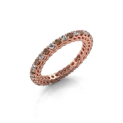 Aanschuifring Rufina 3 375 rosé goud bruine diamant 0.896 crt